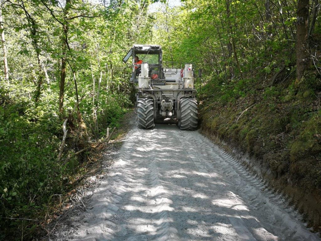 Estabilizado Camino Castu, Parque Natural Redes (Asturias)